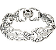 Carolyn Pollack Sterling Silver Country Couture Bracelet 26.0g - J353464