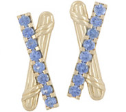 Peter Thomas Roth 18K Gold & Sapphire Criss-Cross Earrings - J357764