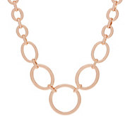 Bronzo Italia Graduated Oval Link Bronze 18 Necklace - J357864