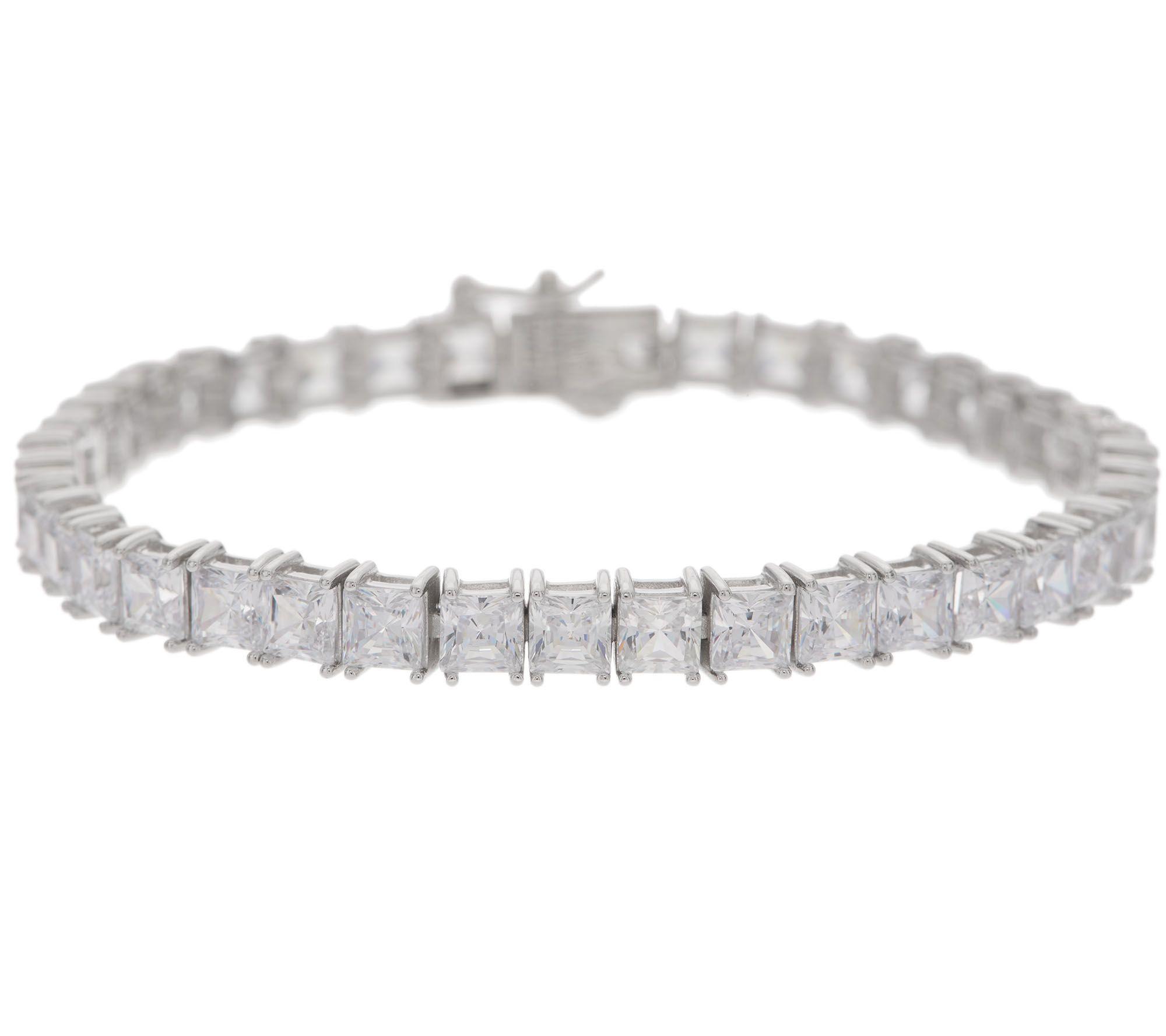 Diamonique Choice of Cut Tennis Bracelet Platinum Clad - Page 1 — QVC.com
