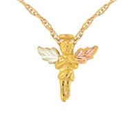 Black Hills Angel Pendant w/ Chain, 10K/12K Gold - J377064