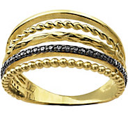 Adi Paz Multi-Row Black Spinel Ring, 14K Gold - J380464