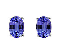 14K White Gold 1.25 cttw Tanzanite Earrings - J392164