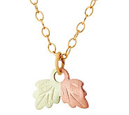Black Hills Leaf Pendant w/ Chain, 10K/12K Gold - J392464