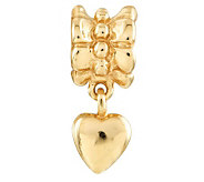 Prerogatives 14K Yellow Gold-Plated Sterling Heart Dangle Bead - J302865