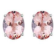 Premier 1.75 cttw Oval Morganite Stud Earrings,14K - J336165