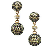 Judith Ripka 14K Rose Gold-Clad Pave DiamoniqueDrop Earrings - J337965