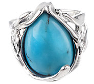 Hagit Sterling Silver Turquoise Cabochon Ring - J340565
