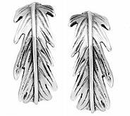Hagit Sterling 3/4 Feather Hoop Earrings - J341865