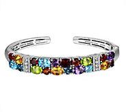 Judith Ripka Sterling Silver Multi-Gemstone  Cuff Bracelet - J342765