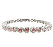 Judith Ripka Sterling 118-Facet Pink DMQ 8 Bracelet - J344765