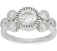 Judith Ripka Sterling Silver 2.10 cttw Diamonique Cluster Ring - J349565