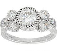Judith Ripka Sterling Silver 2.10 cttw Diamonique Cluster Ring - J349565