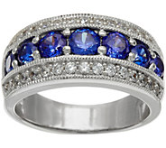 As Is Diamonique & Simulated Gemstone Band Ring, Sterling - J353865