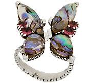 Stephen Dweck Sterling Silver Multi-Gemstone Butterfly Ring - J356565