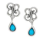 Carolyn Pollack Sterling Sleeping Beauty Turquoise Earrings - J384965