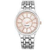 Nine West Womens Crystal Bracelet Watch - J385365