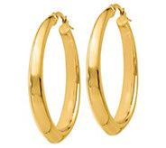 Italian Gold Graduated Oval Hoop Earrings, 14K - J385565