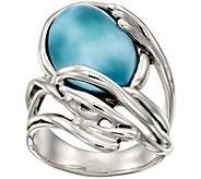 Hagit Sterling Oval Larimar Waved Ring - J386465