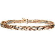Imperial Gold 7-1/4 Tri-Color Mirror Bar Bracelet 14K - J388765