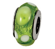 Prerogatives Sterling Green, White, and YellowGlass Bead - J108866