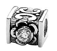 Prerogatives Sterling Cubic Zirconia Accents Bead - J108966