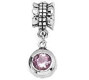 Prerogatives Sterling Pink Cubic Zirconia RoundDangle Bead - J109366