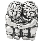 Prerogatives Sterling Silver Two Kids Bead - J110066