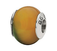 Prerogatives Sterling Yellow-Green Agate Gemstone Bead - J298166