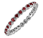 Simply Stacks Sterling Prong Garnet Eternity Stackable Ring - J298666