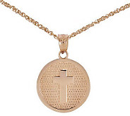 Polished Choice of God Bless Round Pendant w/ 18 Chain, 14K - J313766
