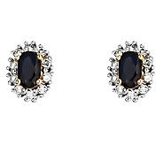 Choice of Oval Gemstone w/ Diamond Accent HaloEarrings, 14K - J315966