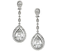 Judith Ripka Sterling 20.45ct tw Diamonique Dangle Earrings - J316166