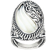 Carolyn Pollack Sterling Silver Carved Mother-of-Pearl Ring - J327466