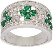As Is Solvar Sterling Silver Clover and Shamrock Ring - J356966