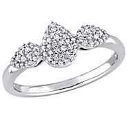 Diamond Pear Shaped Ring, 14K, 1/5 cttw, by Affinity - J376566