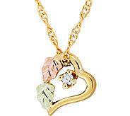 Black Hills Heart Pendant w/ Chain, 10K/12K Gold - J377066
