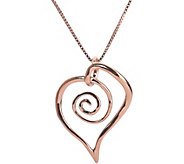 Loving Family Sterling & 14K Spiral Heart Necklace - J380666
