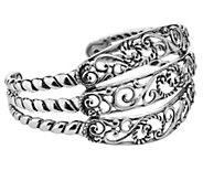Carolyn Pollack Sterling Three-Row Cuff Bracelet, 35.0g - J383166