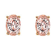 14K Rose Gold 1.25 cttw Morganite Earrings - J392166