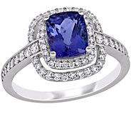 14K 2.15 cttw Tanzanite & 1/2 cttw Diamond Cocktail Ring - J392366