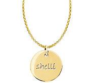 Posh Mommy 18K Gold-Plated Sterl. Medium Disc Pendant w/ Chai - J300067