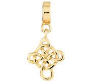 Prerogatives Gold-Plated Sterling Celtic CrossDangle Bead - J302667