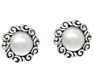 Carolyn Pollack Sterling Silver Signature Round Button Earrings - J335567