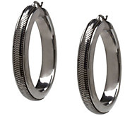 Italian Silver Sterling Snake Chain Round Hoop Earrings - J340967