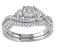3-stone Round Diamond Ring Set, 14K, 1.10 cttw,by Affinity - J344567
