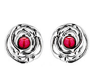 Hagit Sterling Silver Freshwater Pearl Stud  Earrings - J345067