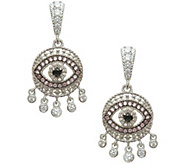 Judith Ripka Sterling Evil Eye Dangle Earrings - J345367