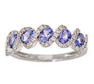 Tanzanite and Diamond 14K Gold Band Ring - J355367
