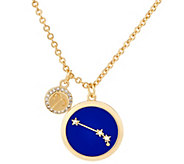 As Is C. Wonder Enamel and Crystal Zodiac Pendant with Chain - J357667